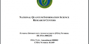 The DOE National QIS Research Centers Funding Opportunity Announcement
