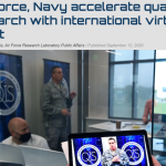 """Col. Timothy Lawrence, director of AFRL's Information Directorate at Rome, N.Y., speaks during the """"Million Dollar International Quantum U Tech Accelerator"""" event that took place Sept. 1-3."""