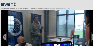 "Col. Timothy Lawrence, director of AFRL's Information Directorate at Rome, N.Y., speaks during the ""Million Dollar International Quantum U Tech Accelerator"" event that took place Sept. 1-3."