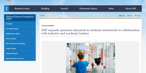 NSF expands quantum education to students nationwide in collaboration with industry and academic leaders