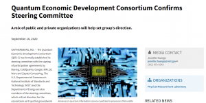 Quantum Economic Development Consortium Confirms Steering Committee