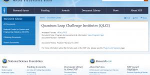 Quantum Leap Challenge Institutes (QLCI)