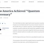"""How America Achieved """"Quantum Supremacy"""""""