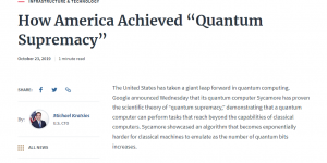 "How America Achieved ""Quantum Supremacy"""