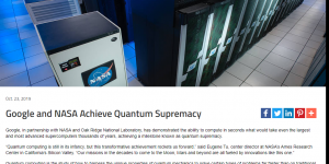 Google and NASA Achieve Quantum Supremacy