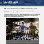 NRL Designated Navy's Quantum Information Research Center