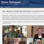 NRL, Maryland Virtually Sign Partnership on Quantum Technologies