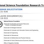 National Science Foundation Research Traineeship (NRT) Program
