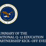 Front Cover for Summary of the National Q-12 Education Partnership Kick-off Event