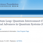 NSF Solicitation on Quantum Interconnect Challenges
