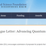 "NSF Organizes Special Webinar for DCL: ""Advancing Quantum Education and Workforce Development"""