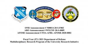 AFOSR Announcement # FOA-AFRL-AFOSR-2020-0002