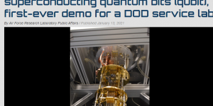 AFRL measures first superconducting quantum bits (qubit), first-ever demo for a DOD service lab