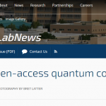 DOE open-access quantum computing testbed is ready for the public