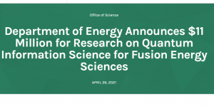 DOE QIS Fusion Awards Cover