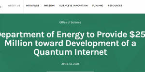 DOE Quantum Network Announcement