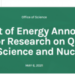 DOE Announces $10 Million for Research on QIS and Nuclear Physics