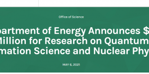 DOE Funding Cover Image