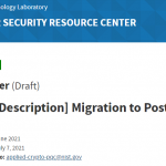 """NIST's NCCoE releases Draft Project Description, """"Migration to Post-Quantum Cryptography."""""""