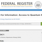 RFI on Access to Quantum Systems