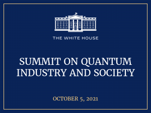 WH Summit on Quantum Industry and Society poster